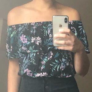 Floral Off the Shoulder Top - S
